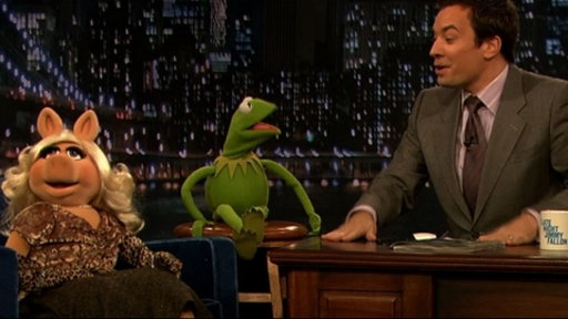 [Kermit and Miss Piggy]