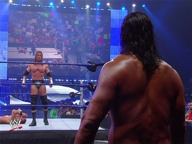 [Triple H Challenges The Great Khali]