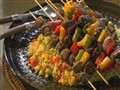 How to Make Bison and Vegetables Kabobs with Cous Cous Salad