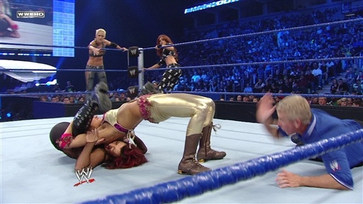 [Maryse, Victoria & Natalya vs. Michelle McCool, Brie Bella & Mar]