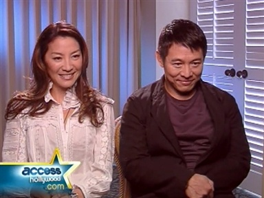 "Jet Li and Michelle Yeoh Battle in ""Mummy 3"" Video"