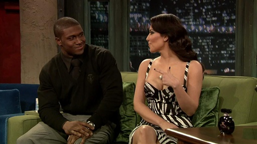 Kim Kardashian and Reggie Bush Interview Video