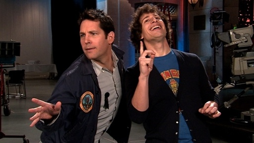 Paul Rudd and Andy Samberg on SNL