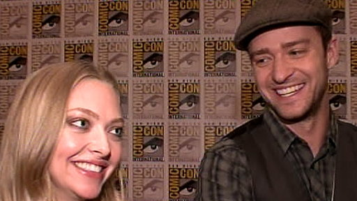 Justin Timberlake &amp; Amanda Seyfried Make &#39;Time&#39; for Comic-Con 20 Video