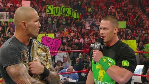 new images of john cena. Randy Orton and John Cena make
