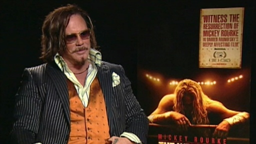 Mickey Rourke's Rigorous 'Wrestler' Experience Video