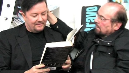 [Ricky Gervais: On James' Lap]