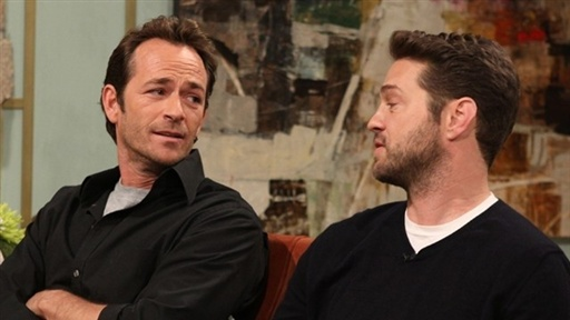 Luke Perry and Jason Priestley Take a Trip Down 'Beverly Hills, Video