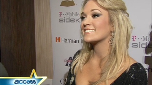 2009 Grammys: Carrie Underwood Talks Grammys And Jennifer Hudson Video