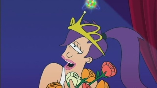 Leela is led to believe that she just won the Miss Universe beauty pageant.