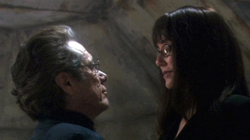 [Battlestar Best Kiss: Roslin and Adama]
