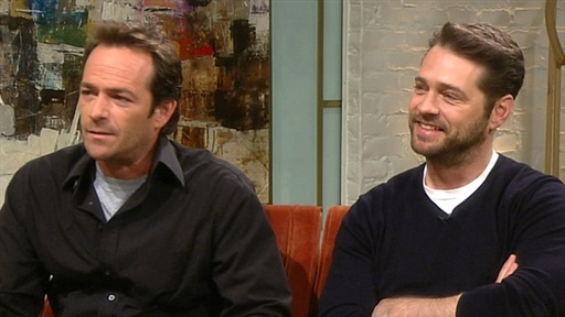 Luke Perry and Jason Priestley Reminisce About Odd Jobs Video