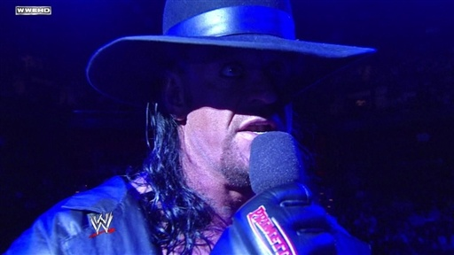 [Undertaker Addresses Shawn Michaels]
