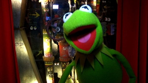 Kermit the Frog at the Muppet Pipes Video