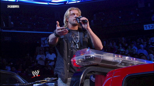 [World Heavyweight Champion Edge Taunts Alberto Del Rio]