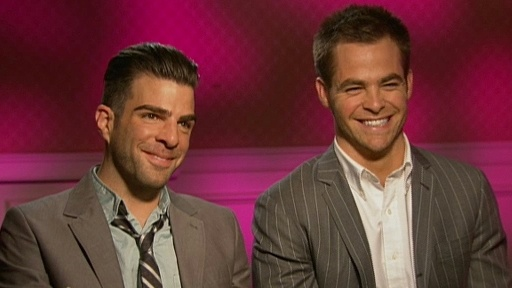 Chris Pine And Zachary Quinto Talk 'Star Trek' Video