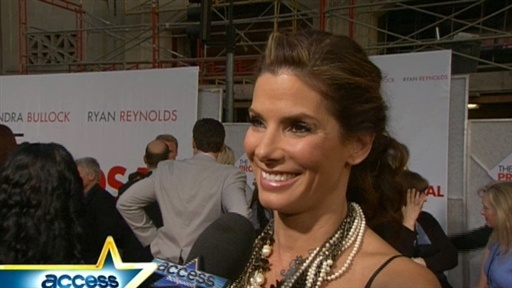 Description: Sandra Bullock and Ryan Reynolds hang out with fans before ...