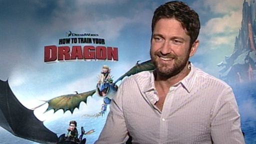 Gerard Butler Gets Naked for 'How to Train Your Dragon'?! Video