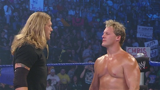 [Edge Confronts Chris Jericho.]