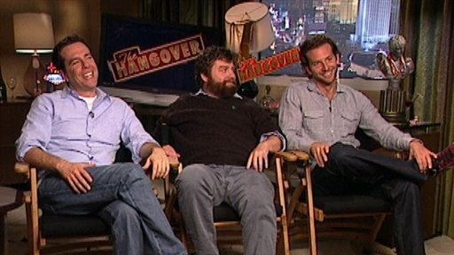 Bradley Cooper, Zach Galifianakis and Ed Helms Talk 'The Hangove Video