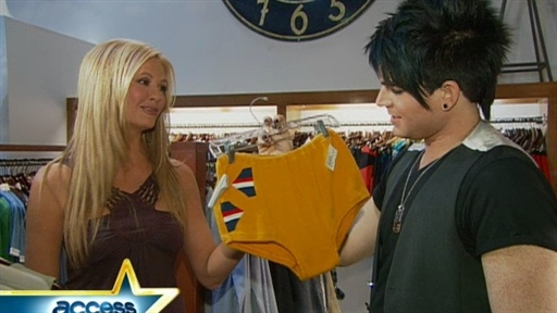 Nancy Goes Shopping With Adam Lambert Video