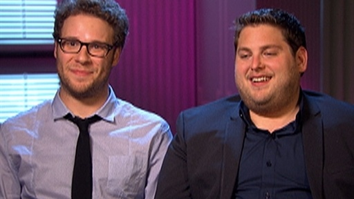Seth Rogen and Jonah Hill Talk &#39;Funny People&#39; Video