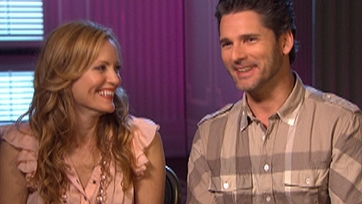 Leslie Mann and Eric Bana Talk 'Funny People' Video