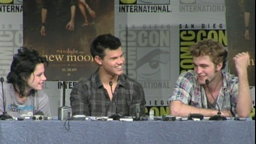 Comic-Con 2009: Kristen, Robert and Taylor Talk 'New Moon', Part Video