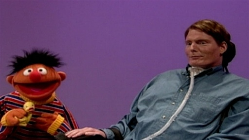 chris hemsworth workout_10. Christopher Reeve and Ernie by Sesame Street