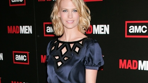 [January Jones Talks 'Mad Men' & Sharks]