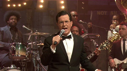 "[Stephen Colbert Sings ""Friday"" With the Roots]"