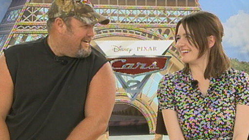 Larry The Cable Guy & Emily Mortimer Talk 'Cars 2' Video