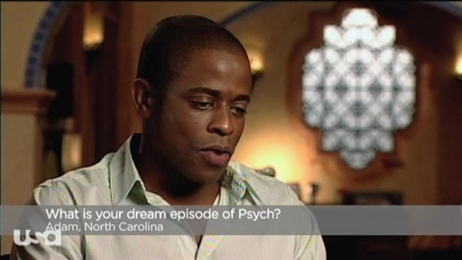 [Dule Hill answering fan questions]