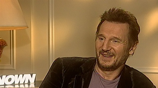 [Liam Neeson Gets Covered in Tattoos for 'Hangover 2']