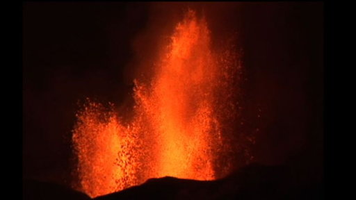 Volcano Erupts: Lava Rivers Flow Video