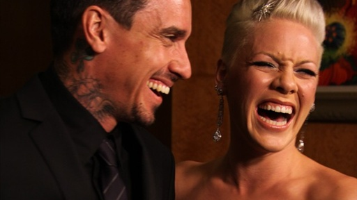 [2010 Grammy Awards Backstage: Pink & Husband Carey Hart Flattere]
