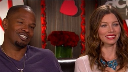 Jamie Foxx and Jessica Biel: What Was Their Worst Valentine&#39;s Da Video