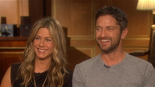Did Jennifer Aniston Get an Eyeful of Gerard Butler's 'Goods' in Video