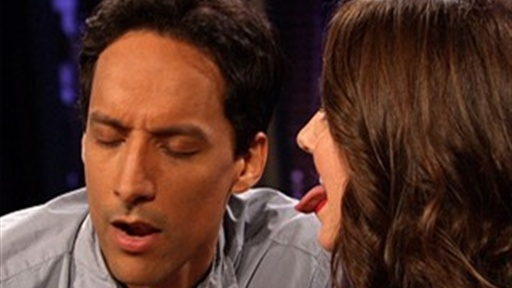 Alison Brie Licks Danny Pudi's Nose Video