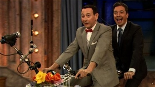 [Tandem Bike With Pee-Wee Herman]