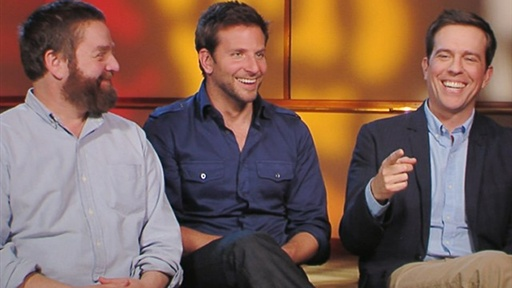 [Bradley Cooper, Zach Galifianakis & Ed Helms Talk 'the Hangover]