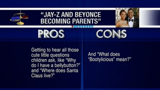 [Pros and Cons: Jay-Z and Beyonce Become Parents]
