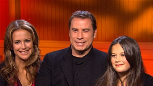 John Travolta, Kelly Preston and Ella Bleu Make 'Old Dogs' a Fam Video
