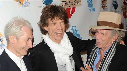 ['Stones in Exile' Premiere, New York: Mick Jagger and Keith Rich]