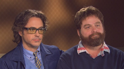 Robert Downey Jr. and Zach Galifianakis Hit the Road in 'Due Dat Video