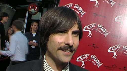 [Jason Schwartzman at the LA 'Scott Pilgrim Vs. the World' Premie]