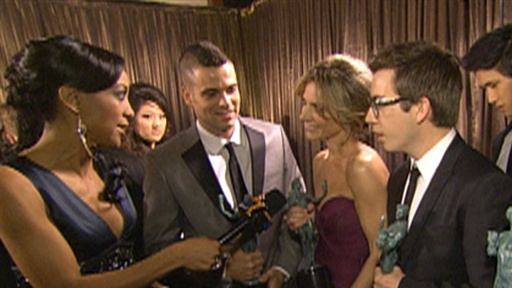 [Backstage at the 2010 SAG Awards: Is the Cast of 'Glee' Getting]
