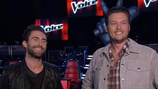Adam Levine &amp; Blake Shelton Find Humor On &#39;the Voice&#39; Video