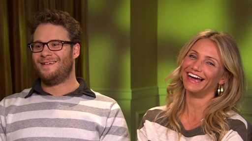 Seth Rogen and Cameron Diaz Laugh It up Over the 'Awesome' 'Gree Video