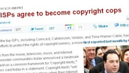 [ISP's Six Strikes Plan Cracks Down On Piracy]